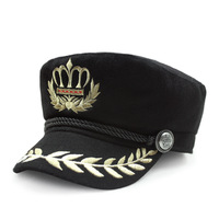 Kagenmo New pu leather fashion male military hat male winter warm leather cap man navy cap cheap faux leather baseball cap