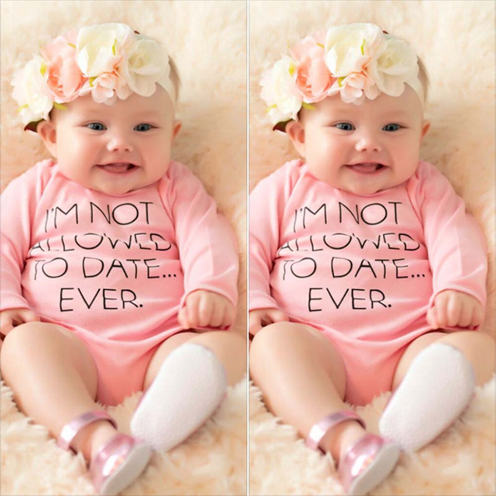 Hot sale newborn clothes Baby Girl Pink Bodysuit Jumpsuit Playsuit Outfits baby bodysuit long sleeve recem nascido bebes