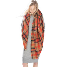 Scarf Wrap Shawl Plaid Cozy Checked Lady Men Women Blanket Oversized Tartan Women Blanket Scarf Plaid #569