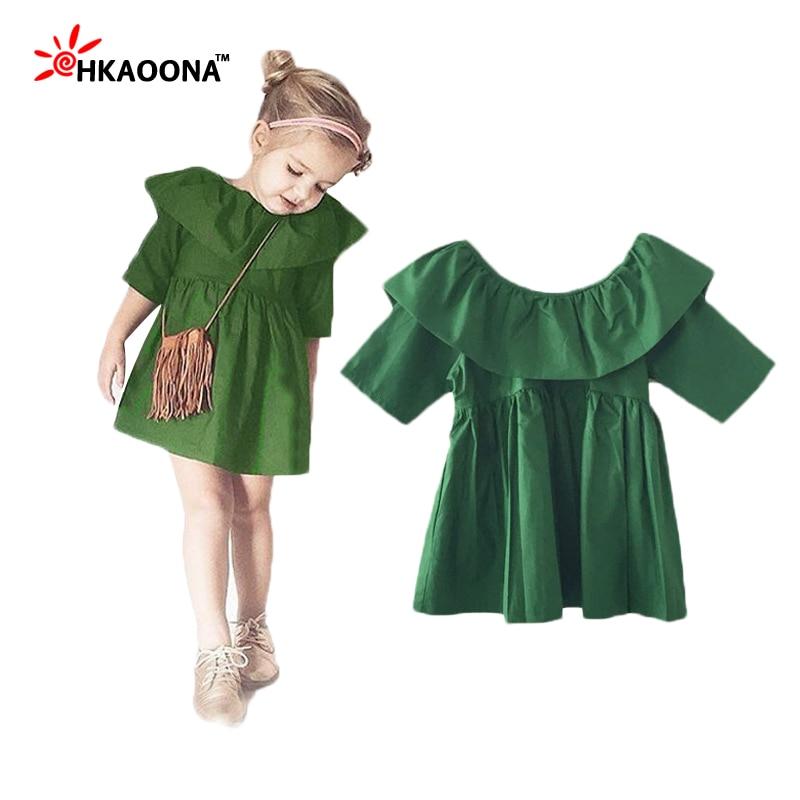 679a05a2d42 2016-New-Summer-Baby-Girls-Ruffled-Green-Dress -Fashion-European-And-American-Style-Solid-Mini-Dress.jpg