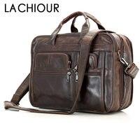 Большой Бизнес дорожная сумка Кофе натуральной кожи Для мужчин Сумки мужской A4 кожа Сумка Для мужчин сумка для ноутбука мужские кожаные Пор