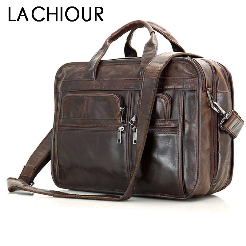 Large Business Travel Bag Coffee Cowhide Leather Men Handbags Male A4 Leather Shoulder Bag Men Laptop Bag Male Leather BriefcaseLarge Business Travel Bag Coffee Cowhide Leather Men Handbags Male A4 Leather Shoulder Bag Men Laptop Bag Male Leather Briefcase