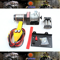 ATV Accessories 2000LB Electrie Winch for 300cc 400cc 500cc ATVs Quad Bike