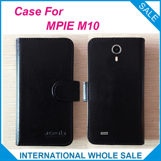 Hot! 2016 M10 Case MPIE  Phone, New Arrival Factory Price Original Flip Leather Exclusive Case For MPIE M10 tracking number