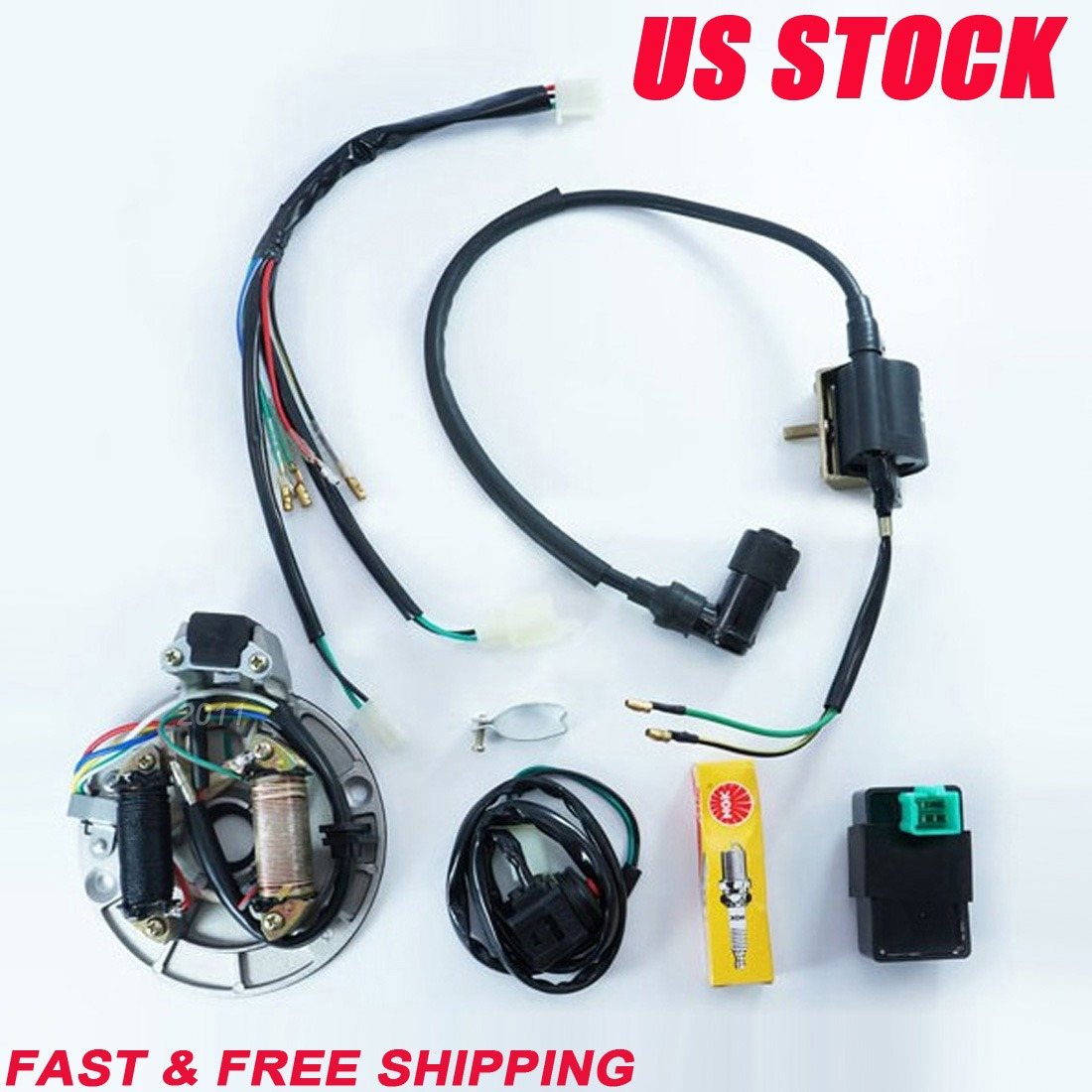125cc Pit Bike Kick Start Wiring Diagram Libraries Kawasaki Librarytdpro 50cc 110cc Motorcycle Cdi Coil Stator Magneto Plug