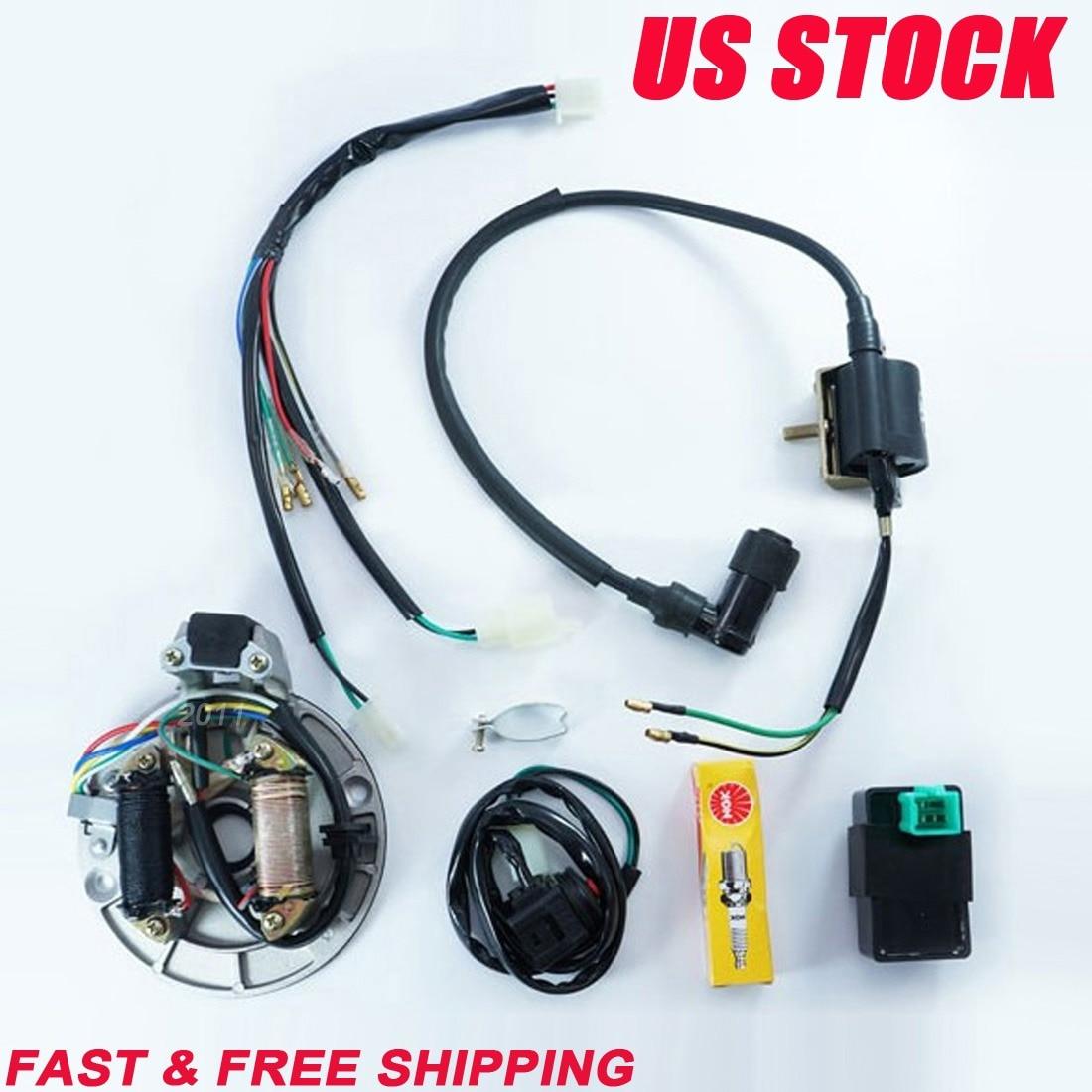 tdpro 50cc 110cc 125cc motorcycle cdi coil stator magneto plug wire harness loom fits 50cc 110cc [ 1100 x 1100 Pixel ]