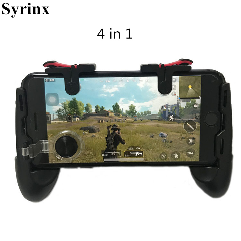 Phone L1R1 Grip with Joystick / Trigger L1r1 Fire Buttons For iPhone X 7 8 Android IOS Mobile Gamepad For Pubg Controller Holder