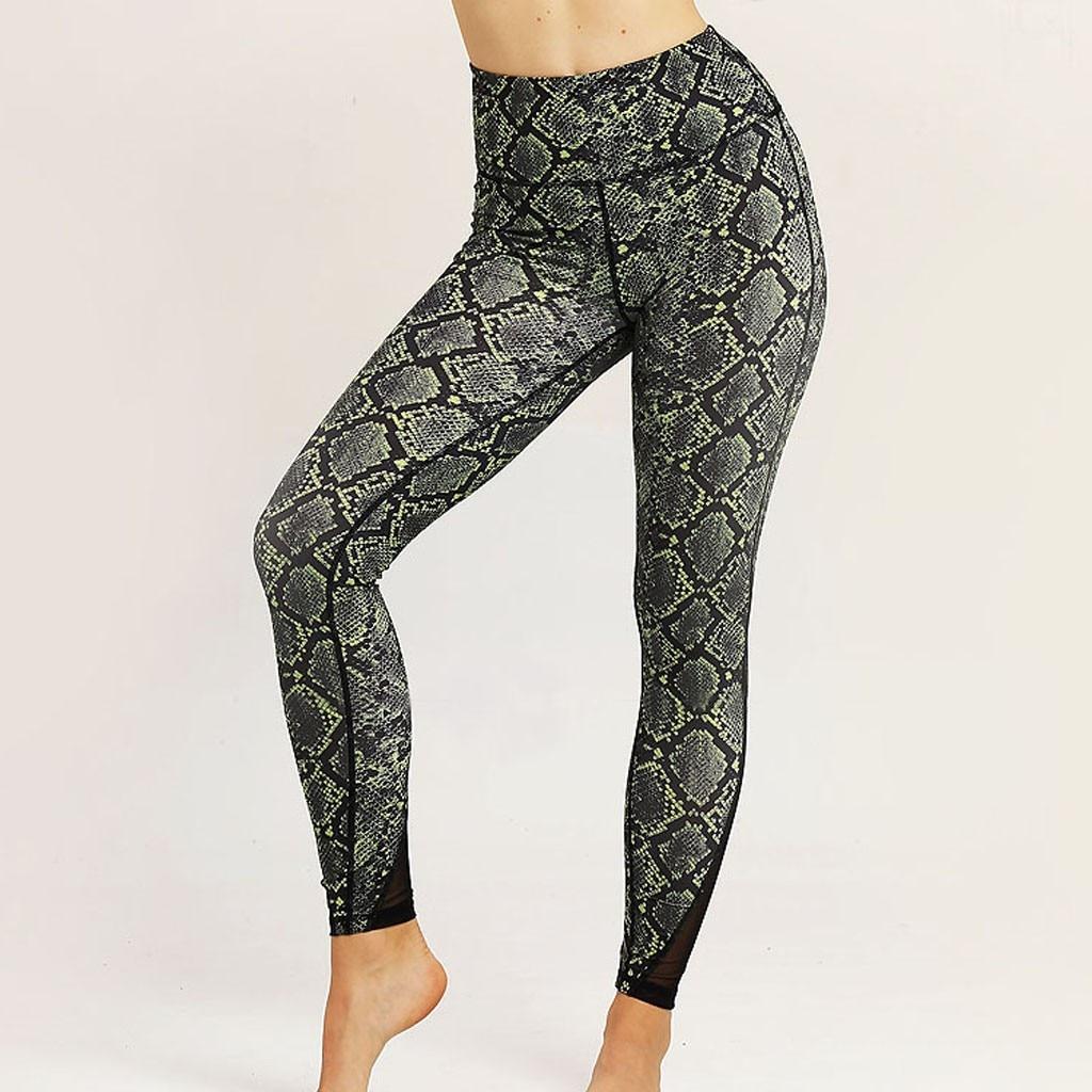 Feitong new snake Print sport leggings sport fitness leggings   pants   quick dry   pants   sport women booty   pants     capri