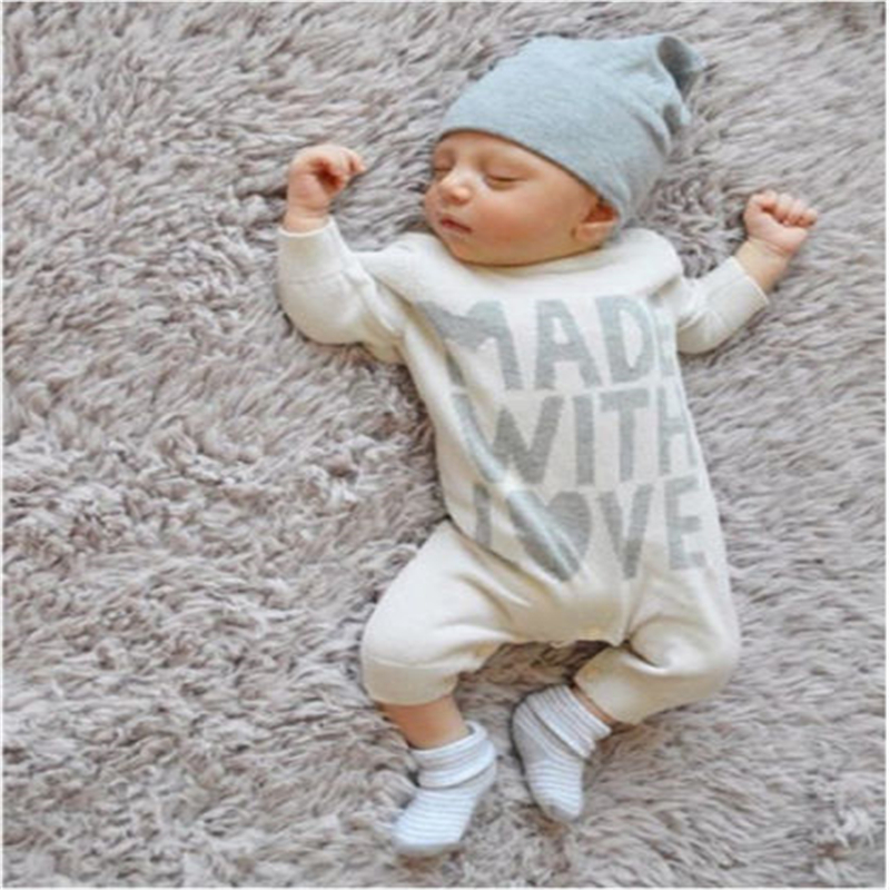 Newborn Kids Baby Girls Boy Clothes Baby Cotton Long Sleeve Romper 2017 New Arrival Fashion Jumpsuit Clothes Bebes Outfits 0-24M 2017 summer toddler kids girls striped baby romper off shoulder flare sleeve cotton clothes jumpsuit outfits sunsuit 0 4t