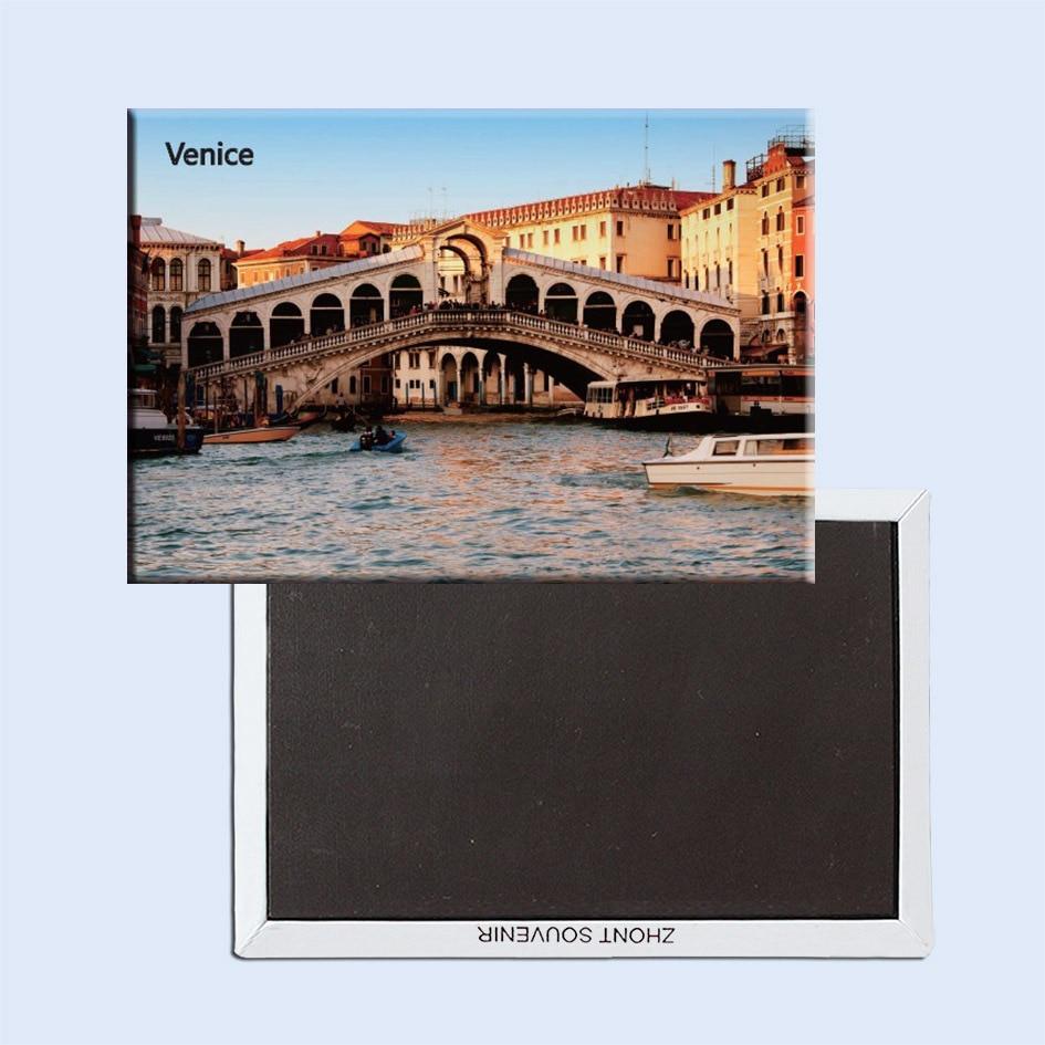 Кәдесыйлар магниттері ТЕГІН жеткізілім, Италия Венеция қаласындағы экскурсия Металл тоңазытқыш магнитті SFM5185
