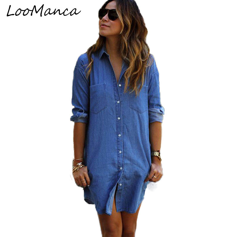 Compare Prices on Womens Denim Shirts- Online Shopping/Buy Low ...