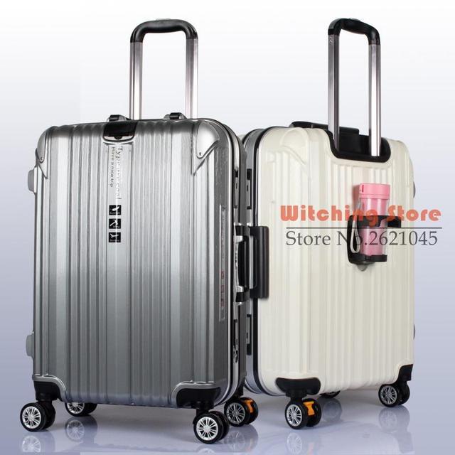 24 PULGADAS 2024 # Friega la taza de ruedas marco de aluminio varilla sólida caja de almacenamiento a bordo de arrastre equipaje de viaje ropa LIBRE GRATIS