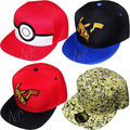Go cap chapéu Pikachu ash ketchum Pokemon Chapéu de Basebol Das Meninas Dos Meninos Crianças Repicado Viseira Snapback Cap Impressão 2016 NOVA Moda