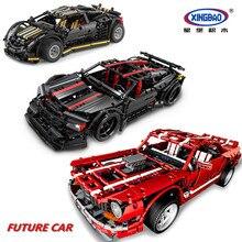 XINGBAO 07001/07002/07003 Future Car Series Building Blocks Creative MOC Bricks Compatible LegoINGlys Car TECHNIC Funny Toys