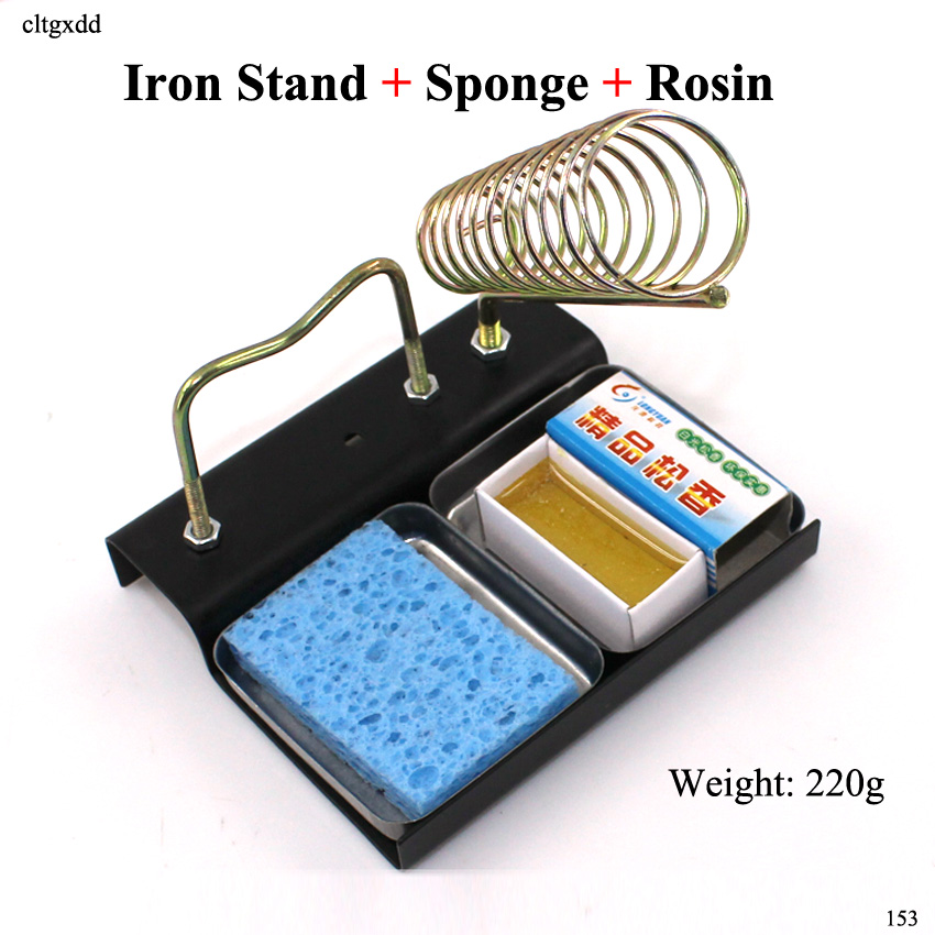 Cltgxdd Electric Soldering Iron Stand Holder Metal Support Station With Solder Sponge Soldering Iron Frame + Rosin