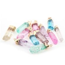 цены на Wholesale Fashion Hot Sale Assorted 6 Color Crystal Natural Stone Pendant  DIY for Necklace or Jewelry Making  в интернет-магазинах