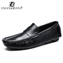 Causal Men Shoes Slip-On Spring and Autumn Split Leather Flats Handmade Loafers Fashion Designer Zapatos Chaussure Hombre
