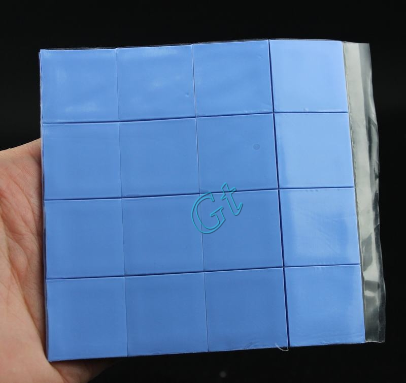160 Pieces Gdstime 25x25x1mm Thermal Conductive Silicone Pad Mini Thermal Pads 25mm X 1mm Laptop GPU CPU Heatsink Cooling 2.5cm