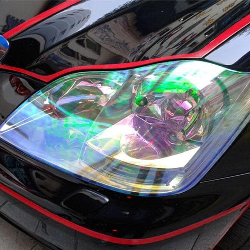 "Car Styling Decoration 1pc 12""x78"" Chameleon Clear Car Headlight Tail/Fog Light Vinyl Tint Film Wrap UV Protector"