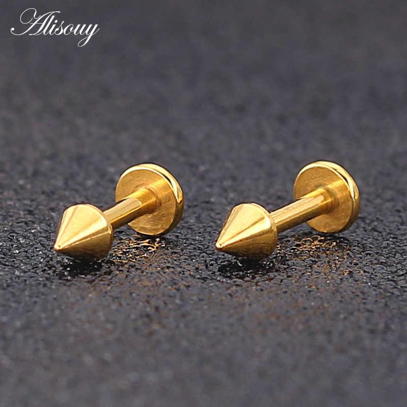 1 Pza 16G aro de acero quirúrgico Piercing oro Labret labio oreja cartílago labio pendientes Piercing Ombligo oreja Piercing joyería del cuerpo