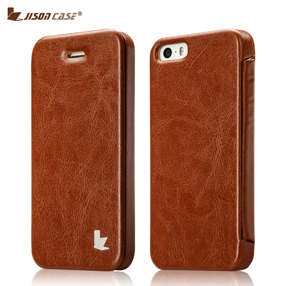 Jisoncase Smart Flip Cover For IPhone 5 5s Se Case Cover Leather Luxury Magnetic Funda Book Style Phone Cases For IPhone SE 5S