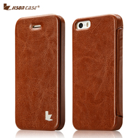 Jisoncase Smart Flip Phone Cases For IPhone 5 5s Se 6 6s Cover Luxury Leather Funda