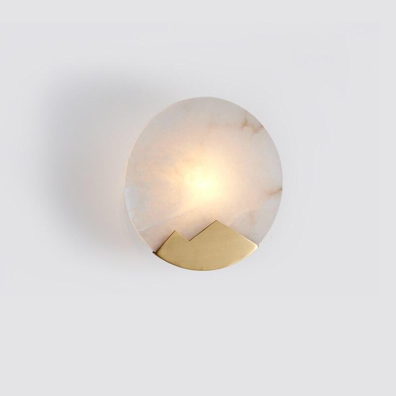 Appliques murales en marbre LED modernes appliques murales rondes pour salon chambre lampes murales de chevet luminaires luminaires d'intérieur