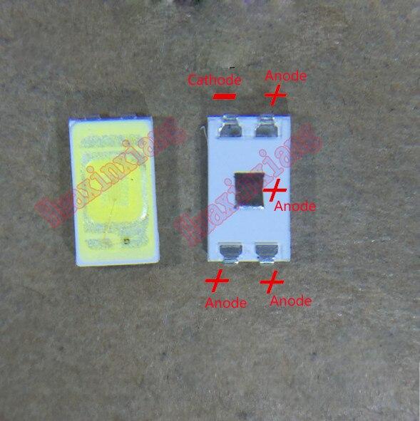100PCS/Lot SMD LED 5630 3V 0.5W Cool White For TV/LCD Backlight Application