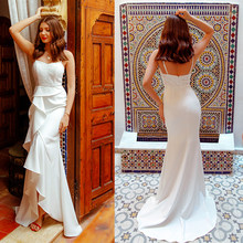 2019 Wedding Dresses Ever Pretty EP07232 Women's Fashion Simple Backless Lace Cheap Long Bridal Gowns Vestido De Noiva(China)