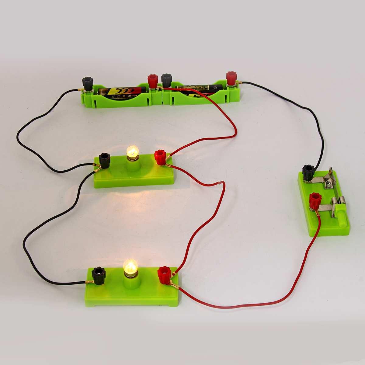 4//5 Bulbs Children Kid Electric Circuit Educational Kit Science School Toy Light