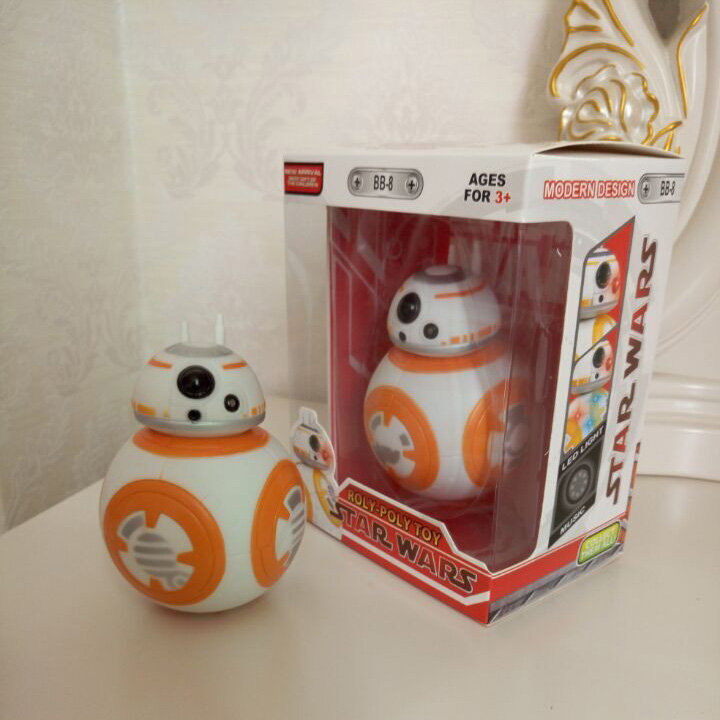 Hot 1pcs Star Wars The Force Awakens BB8 BB-8 Droid Robot Action Figure 5 for children's Birthday & Christmas gift Kids Toys 8 5cm star wars the force awakens bb8 bb 8 robot action figures pvc brinquedos collection figures toys for christmas gift