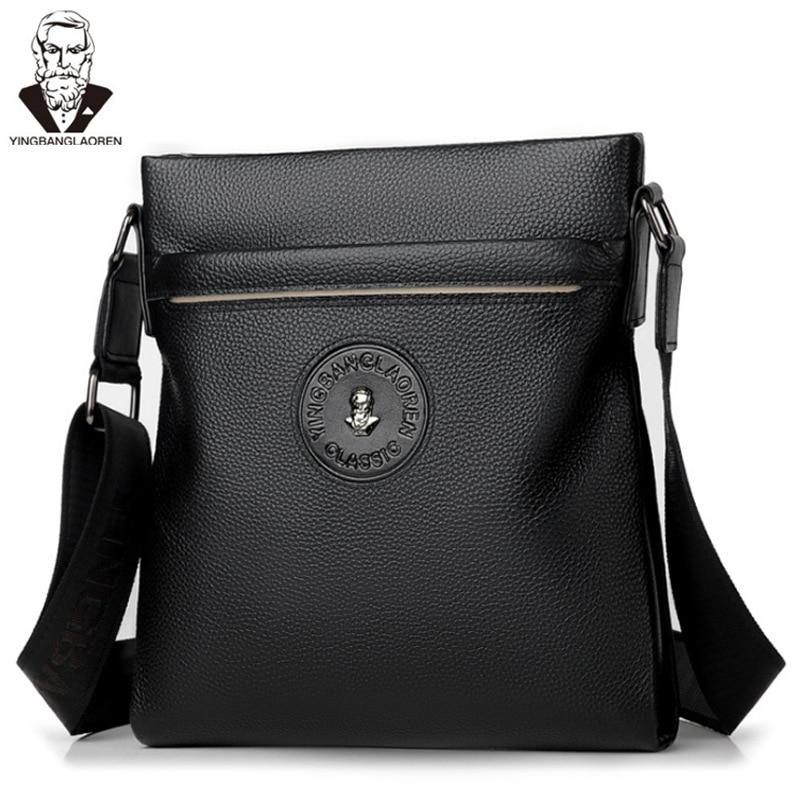 Head Layer Cowhide Men's Business Shoulder Bag Male Crossbody Bag Messenger iPad Bag Casual Handbag Travel Bag for Men