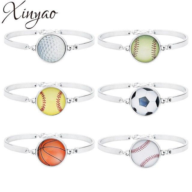 XINYAO спортивные мячи футбол/регби/Бейсбол/Baskteball/Боулинг Подвески браслет с застежкой омар для мужчин женщин F7392