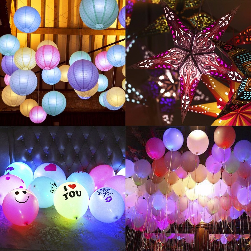 200pcslot Battery Operated Mini Led Paper Lantern Lights In Holiday