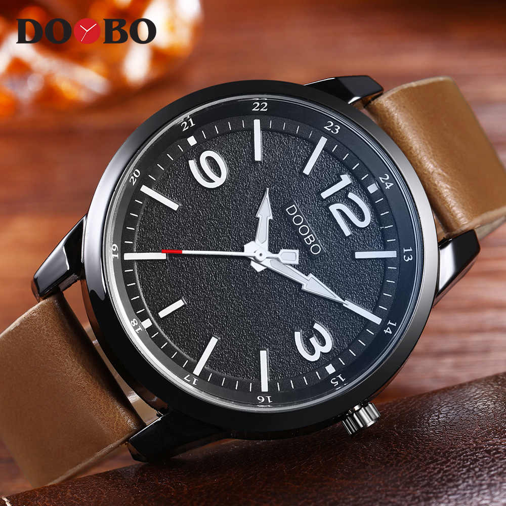 DOOBO, военные часы, мужские брендовые Роскошные Кварцевые часы с кожаным ремешком, модные повседневные спортивные часы, мужские часы, Relogio masculino