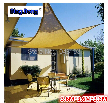 outdoor sun shade sail HDPE triangles Sun shading net anti uv awning canopy 3.6*3.6 & Online Get Cheap Shade Gazebo Canopy -Aliexpress.com | Alibaba Group