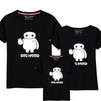 95 Cotton 5 Big Hero 6 T Shirt Cute Baymax Clothes Father Son Mother Daughter T