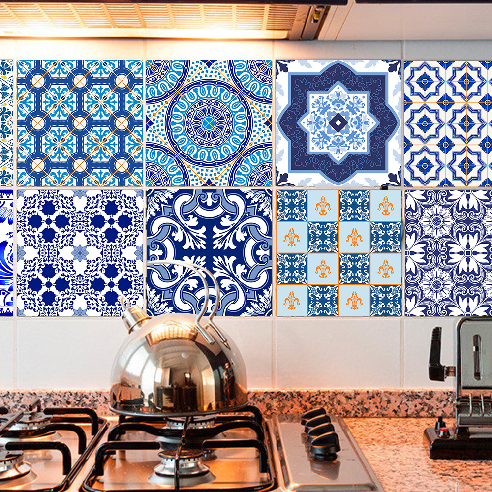 Funlife Chinese Blue and white porcelain Tile Sticker,Waterproof ...