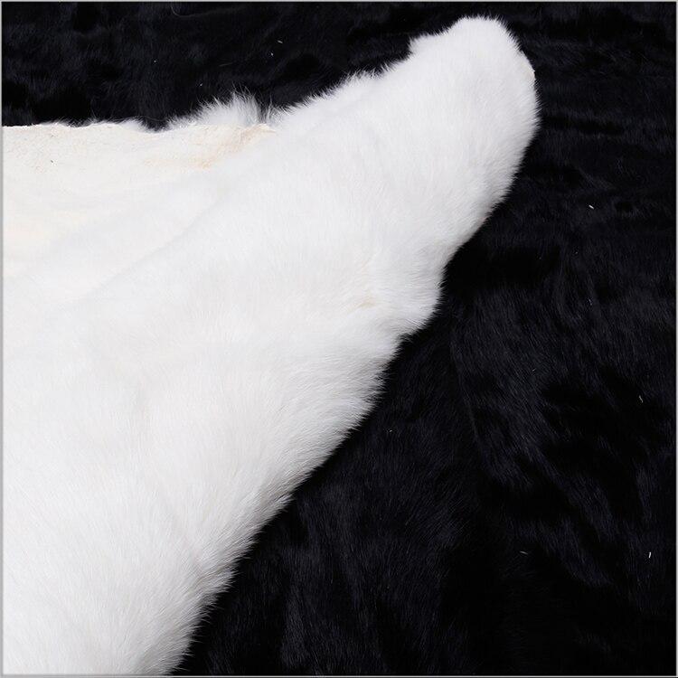 200*230 cm lapin plaque de fourrure lapin peau tapis ventre fourrure plaque couverture couvertures - 4