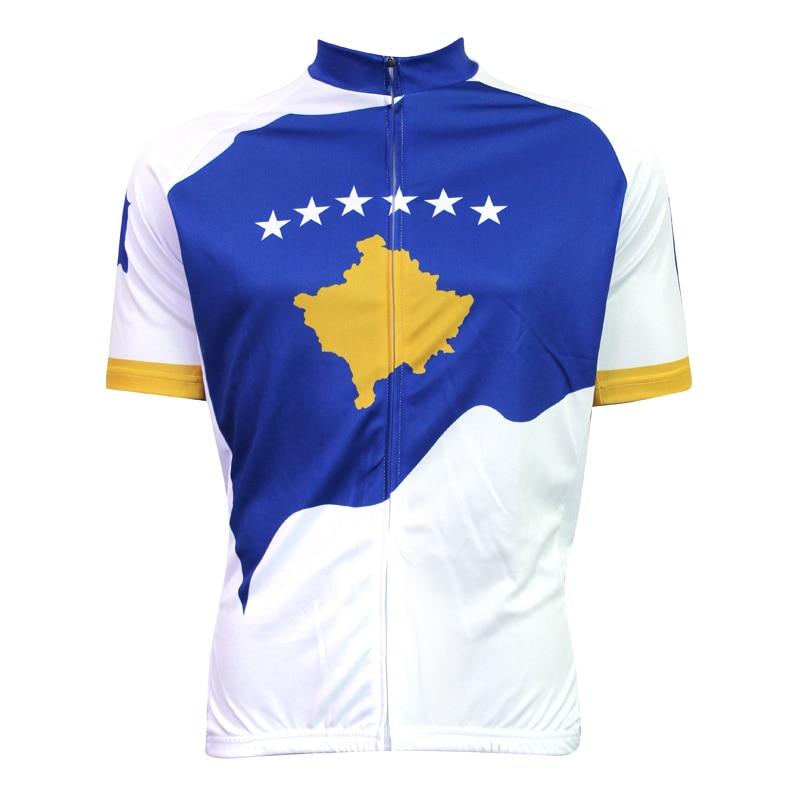 New KOSOVO Cycling shirt bike equipment Mens Cycling Jersey Cycling Clothing Bike Shirt Size 2XS TO 5XL ILPALADIN kosovo s diplomacy