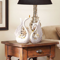 soft outfit wedding gift wine decoration living room decorative cabinet decoration ceramic decoration gilt Swan