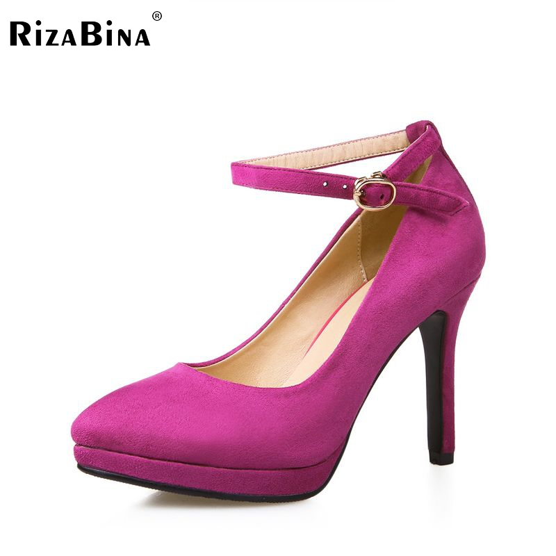 women platform buckle high heel shoes dress footwear lady sexy brand female fashion heeled pumps heels shoes size 33-40 P16917 xiaying smile summer new woman sandals platform women pumps buckle strap high square heel fashion casual flock lady women shoes