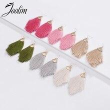 Joolim Jewelry Wholesale/6 Colors Fabric Tassel Drop Earrings Dangle Earring Wholesale