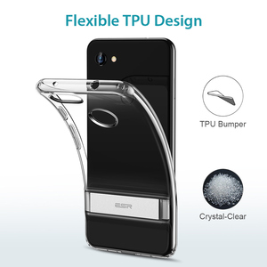 Image 2 - ESR Metal Kickstand Case for Google Pixel 3a 3a XL Business Cover Shockproof Flexible TPU Phone Case for Google Pixel 3 3XL 4 XL