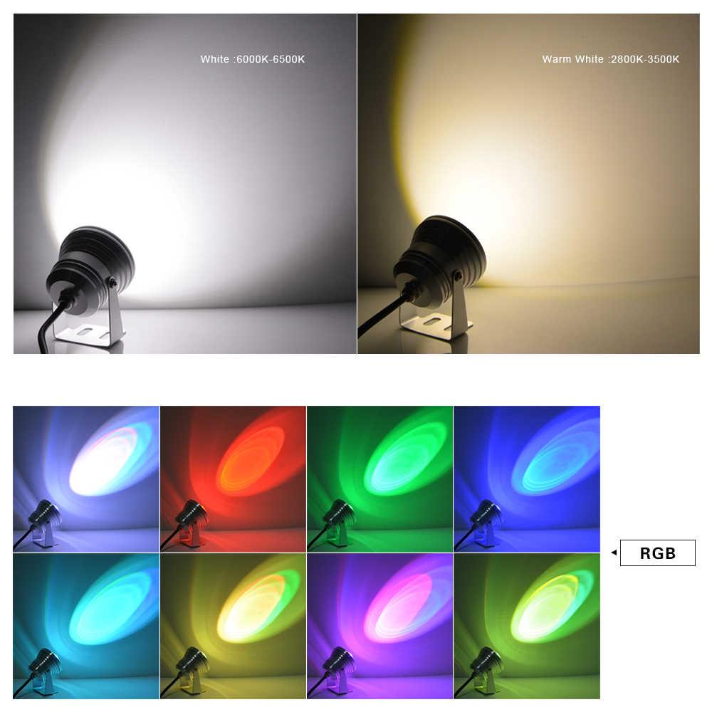 12 В 10 Вт RGB Светодиодный прожектор IP68 Водонепроницаемая светодиодная подводная лампа фонтан свет плавательный бассейн для сада пруд декор Освещение Лампа