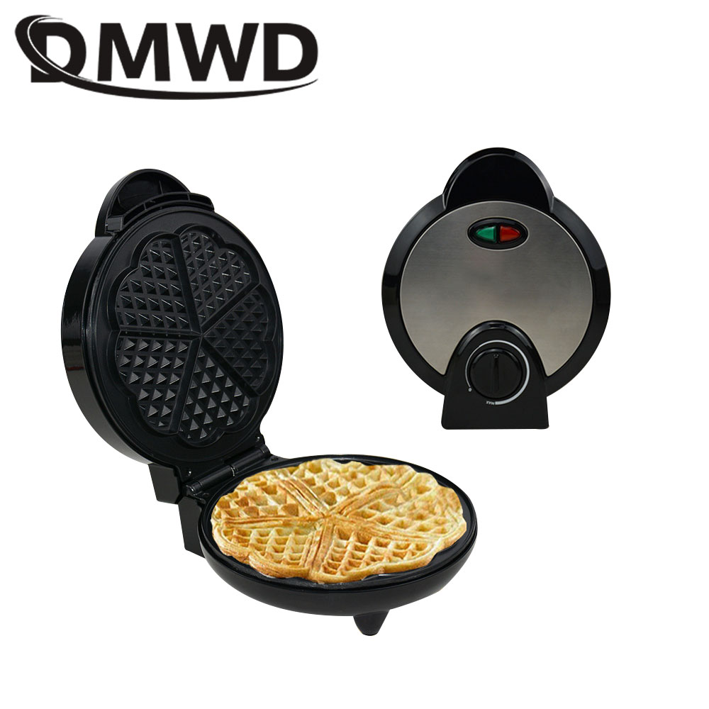 DMWD Electric Eggs Waffle Maker Multifunction Breakfast crepe baking machine MINI Muffin Grill Egg cake oven Bakeware EU plug multifunctional electric egg waffle maker donut cake pop machine mini muffin bubble baking grill oven 3 changeable plates eu us