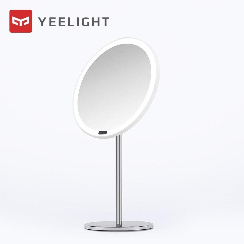 Xiaomi Mijia Yeelight портативсветодио дный ное светодиодное зеркало для макияжа со светом с регулируемой яркостью и умным датчиком движения Ночной ...