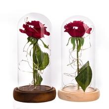 Navidad Rose Light Red Rose Flower Vase Party Decorations LED String Light  Valentine Day Flowers Christmas Mother's Day Gift