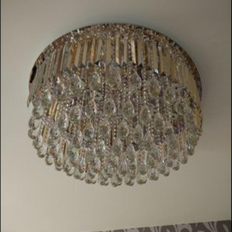 new design modern ceiling chandeliers living crystal lights round LED lamparas de techo indoor lighting-in Chandeliers from Lights & Lighting    3