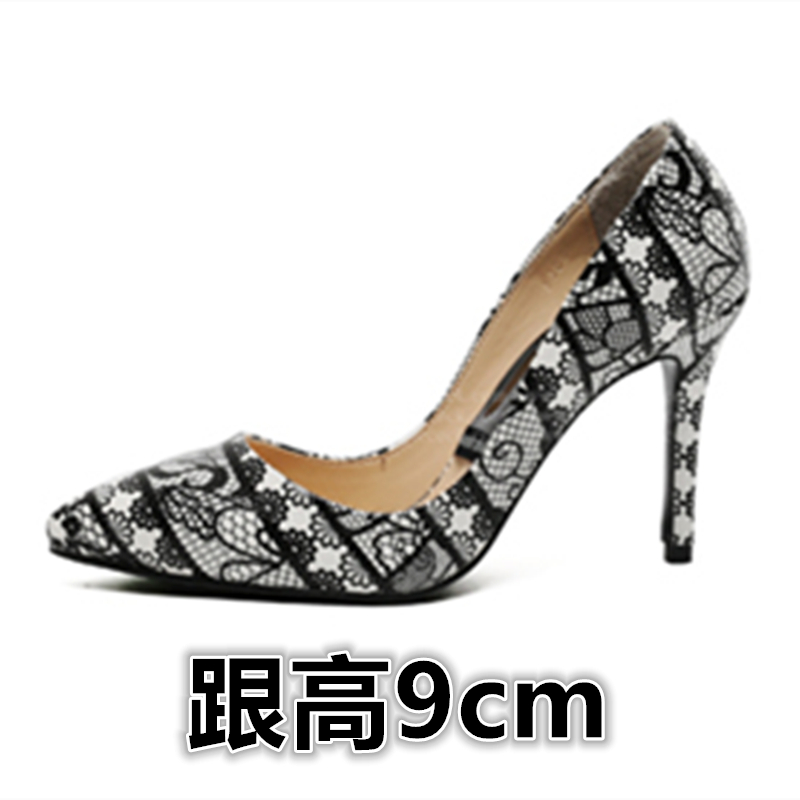 ФОТО Spring and autumn serpentine pattern shoes high-heeled shoes small yards 30 31 32 33 plus size 40 41 42 43 44 free shipping